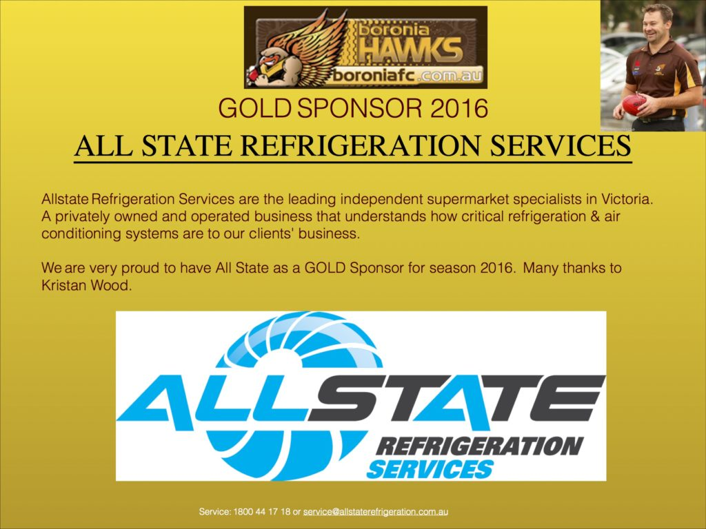 All State Gold Sponsor 2016