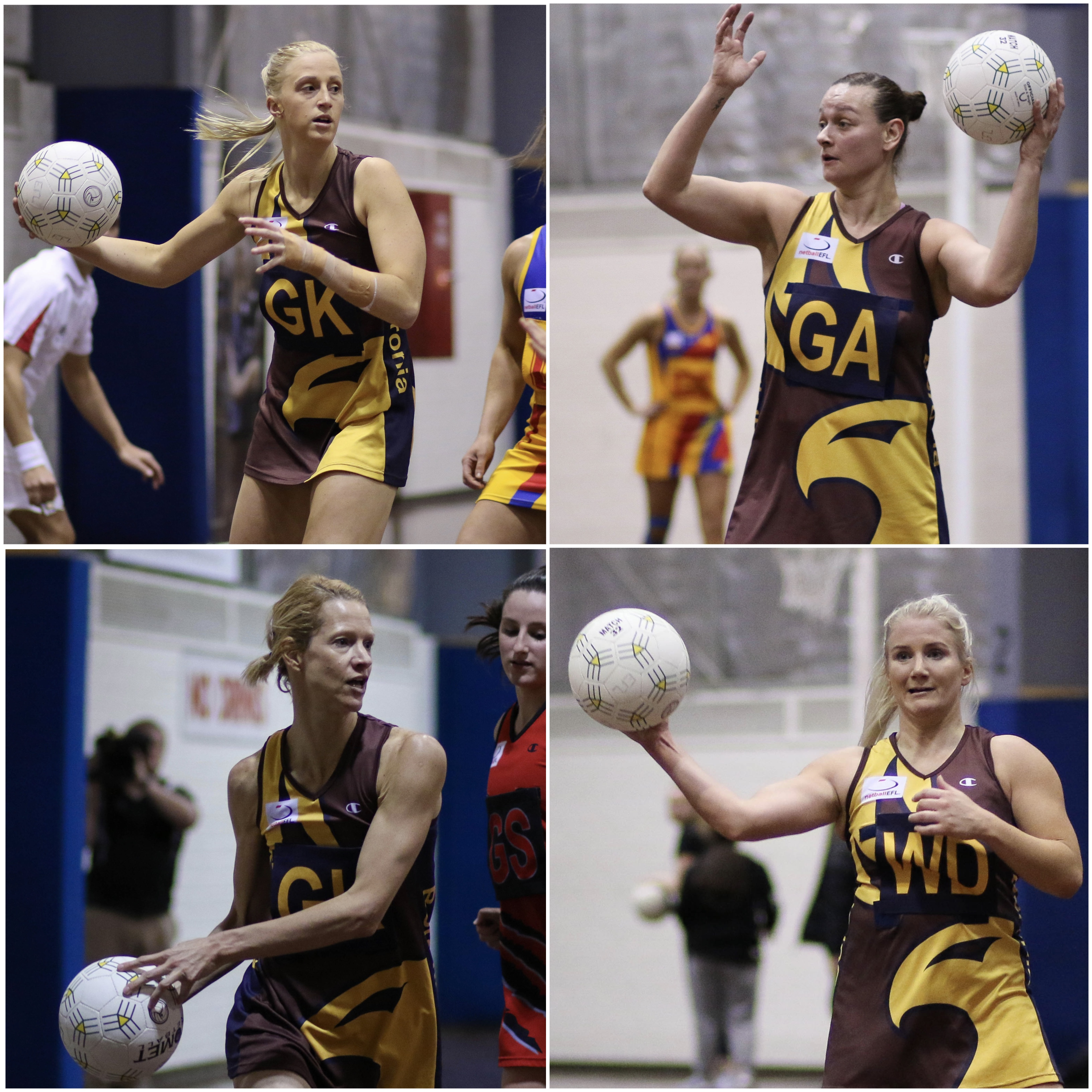 Nominees for Netball 2017 Team of the Year