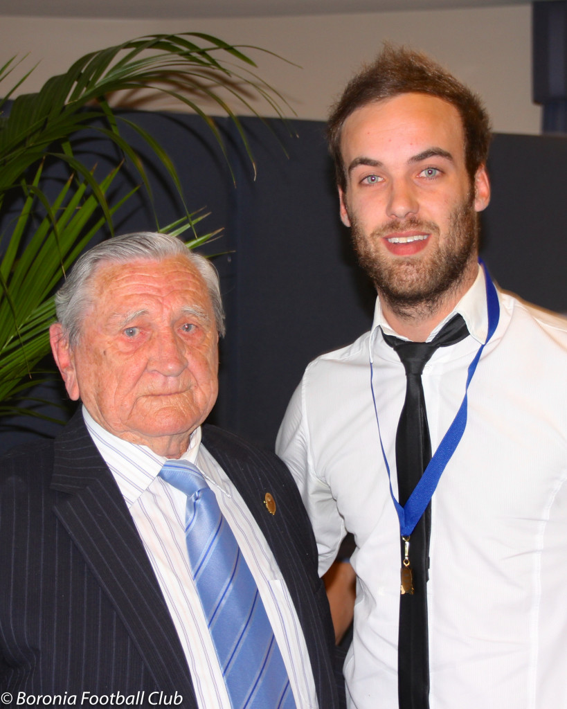 Bob Henry and six-time medallist Dean Grice in 2013